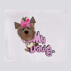 My Dawg Throw Blanket