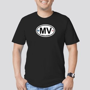 Martha's Vineyard MA - Oval Design. Men's Fitted T