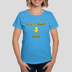 Cross-Stitch Chick Women's Dark T-Shirt