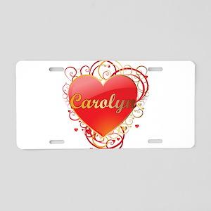 Carolyn Valentines Aluminum License Plate