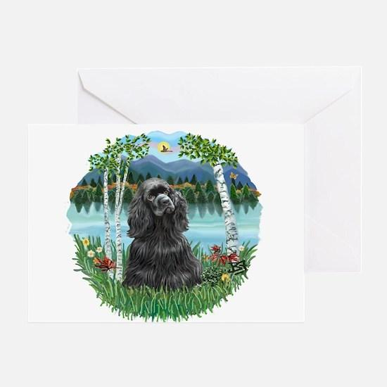 Birches-BlackCocker Greeting Card