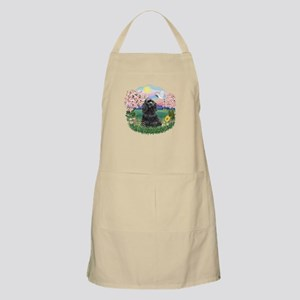 Blossoms-Black Cocker Apron