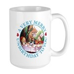 A Very Merry Unbirthday To You Large Mug
