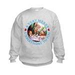 A Very Merry Unbirthday To You Kids Sweatshirt
