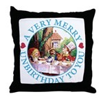 A Very Merry Unbirthday To You Throw Pillow