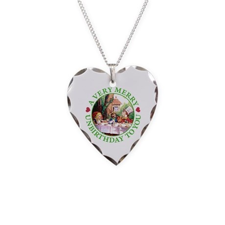 A Very Merry Unbirthday To You Necklace Heart Char