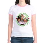 A Very Merry Unbirthday To You Jr. Ringer T-Shirt