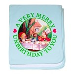 A Very Merry Unbirthday To You baby blanket