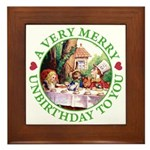 A Very Merry Unbirthday To You Framed Tile