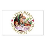 A Very Merry Unbirthday To You Sticker (Rectangle)