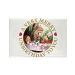 A Very Merry Unbirthday To You Rectangle Magnet (1