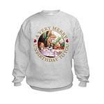 A Very Merry Unbirthday To You Kids Sweatshirt