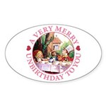A Very Merry Unbirthday To You Sticker (Oval 50 pk