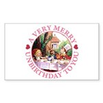 A Very Merry Unbirthday To You Sticker (Rectangle