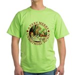 A Very Merry Unbirthday To You Green T-Shirt