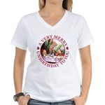 A Very Merry Unbirthday To You Women's V-Neck T-Sh