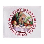 A Very Merry Unbirthday To You Throw Blanket