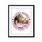 A Very Merry Unbirthday To You Framed Panel Print