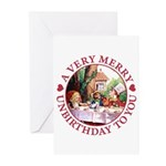 A Very Merry Unbirthday To You Greeting Cards (Pk