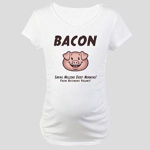 Bacon - Vegan Maternity T-Shirt