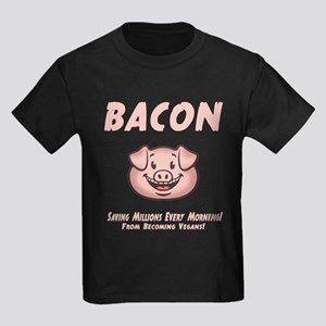 Bacon - Vegan Kids Dark T-Shirt