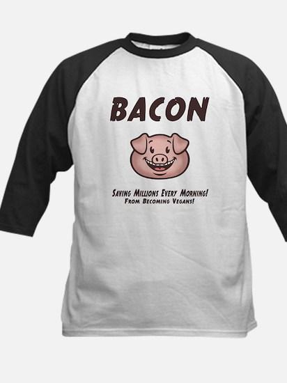 Bacon - Vegan Kids Baseball Jersey