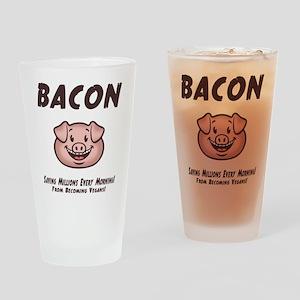 Bacon - Vegan Drinking Glass