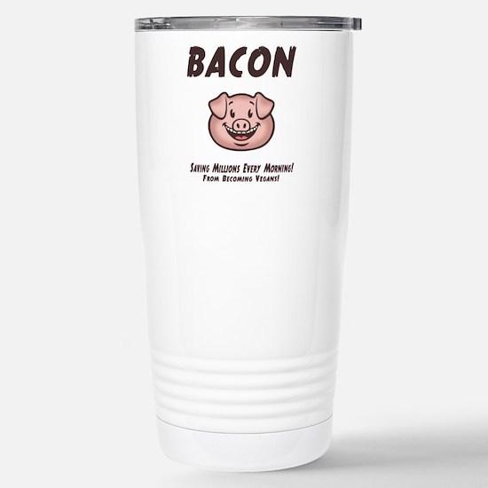 Bacon - Vegan Stainless Steel Travel Mug