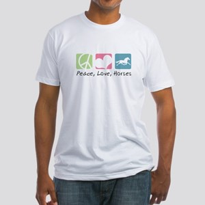 Peace, Love, Horses Fitted T-Shirt