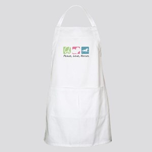 Peace, Love, Horses Apron