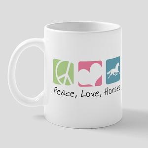 Peace, Love, Horses Mug