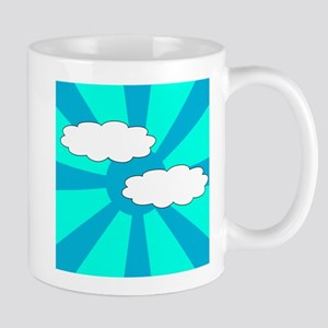 Cloudy Blue Rays Mug