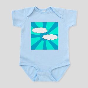 Cloudy Blue Rays Infant Bodysuit