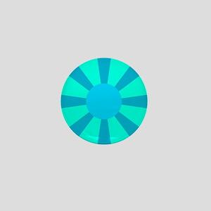 Blue Rays Mini Button