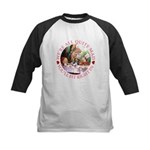 We're All Quite Mad Kids Baseball Jersey