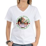 We're All Quite Mad Women's V-Neck T-Shirt