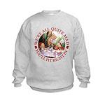 We're All Quite Mad Kids Sweatshirt