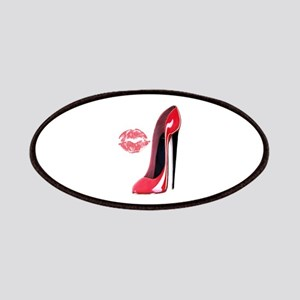 Red Stiletto Shoe and Kiss Patches
