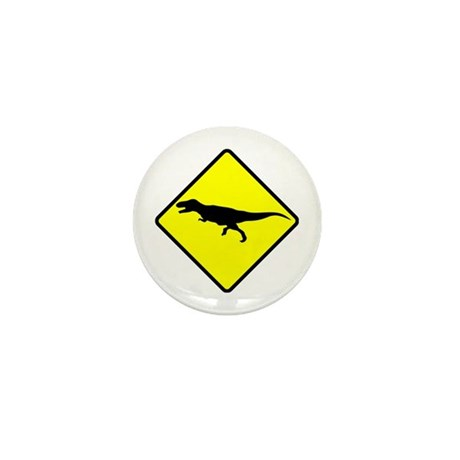 Caution: TRex Mini Button (10 pack)