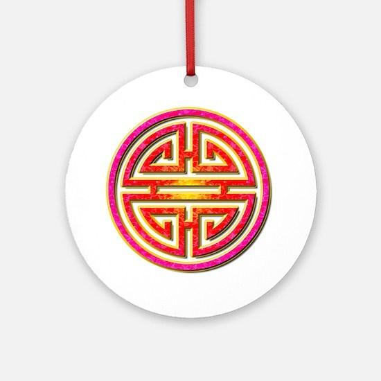 Shou Round Ornament