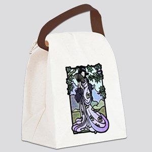 Geisha Fan 2 Canvas Lunch Bag