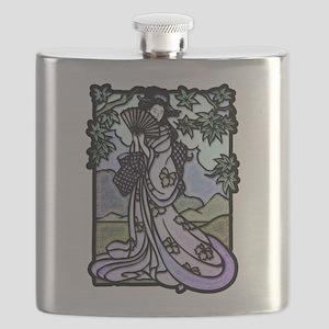 Geisha Fan 2 Flask