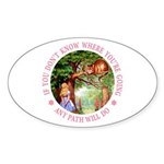 Any Path Will Do Sticker (Oval)