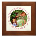 Any Path Will Do Framed Tile