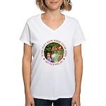 Any Path Will Do Women's V-Neck T-Shirt