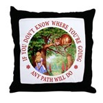 Any Path Will Do Throw Pillow