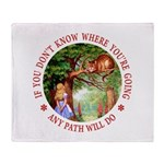 Any Path Will Do Throw Blanket
