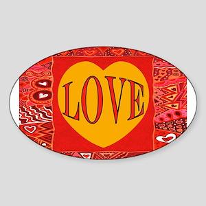 BE MY LOVE Sticker (Oval)