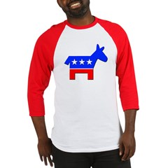 Democrat Donkey Logo (Front) Baseball Jersey