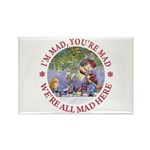 We're All Mad Here Rectangle Magnet (10 pack)